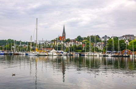 Nature: Vew of harbour in Flensburg city Germany #09337