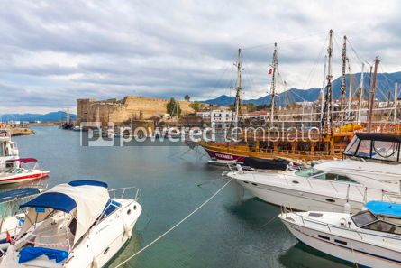 Nature: Kyrenia (Girne) old harbour Northern Cyprus #09341