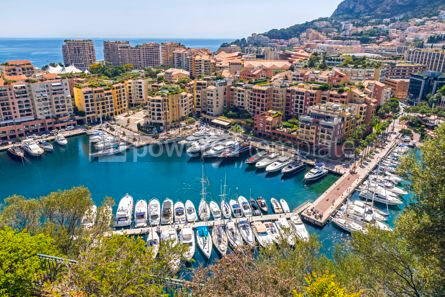 Nature: Panoramic view of Port de Fontvieille Principality of Monaco #09346