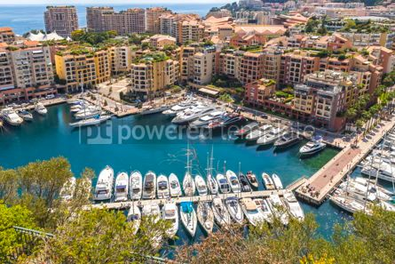 Nature: Panoramic view of Port de Fontvieille Principality of Monaco #09347