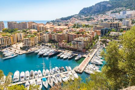 Nature: Panoramic view of Port de Fontvieille Principality of Monaco #09348