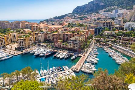 Nature: Panoramic view of Port de Fontvieille Principality of Monaco #09349