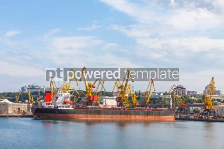 Industrial: Sea port of Odessa Black Sea Ukraine #09358