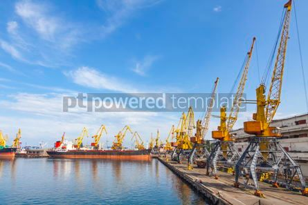 Industrial: Sea port of Odessa Black Sea Ukraine #09361