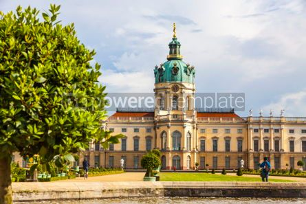 Architecture : Charlottenburg Palace in Berlin Germany #09365
