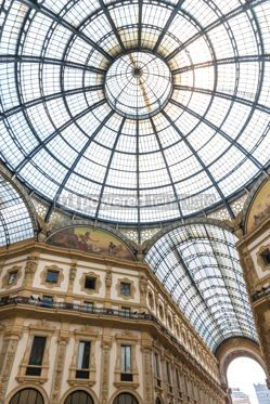 Architecture : Galleria Vittorio Emanuele shopping Center in Milan Italy #09371