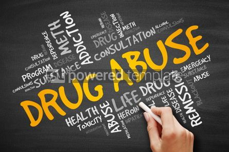 Health: Drug Abuse word cloud collage #09390