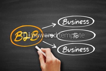 Business: B2B - Business To Business acronym on blackboard #09396