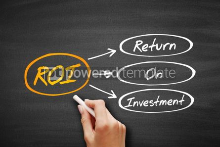 Business: ROI - Return On Investment acronym #09403