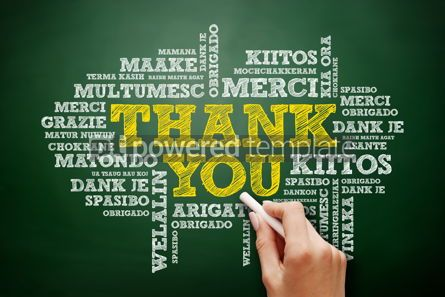 Business: Thank You Word Cloud in many languages #09426