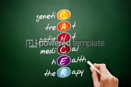 Business: CANCER acronym health concept background #09429