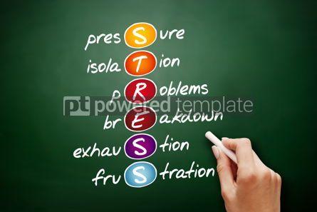 Business: STRESS acronym health concept background #09439