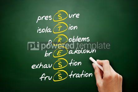 Business: STRESS  acronym health concept background #09440