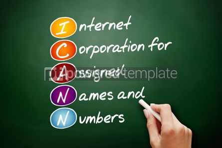 Technology: ICANN acronym technology concept background #09459