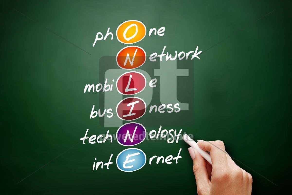 ONLINE  acronym business concept background, 09467, Business — PoweredTemplate.com