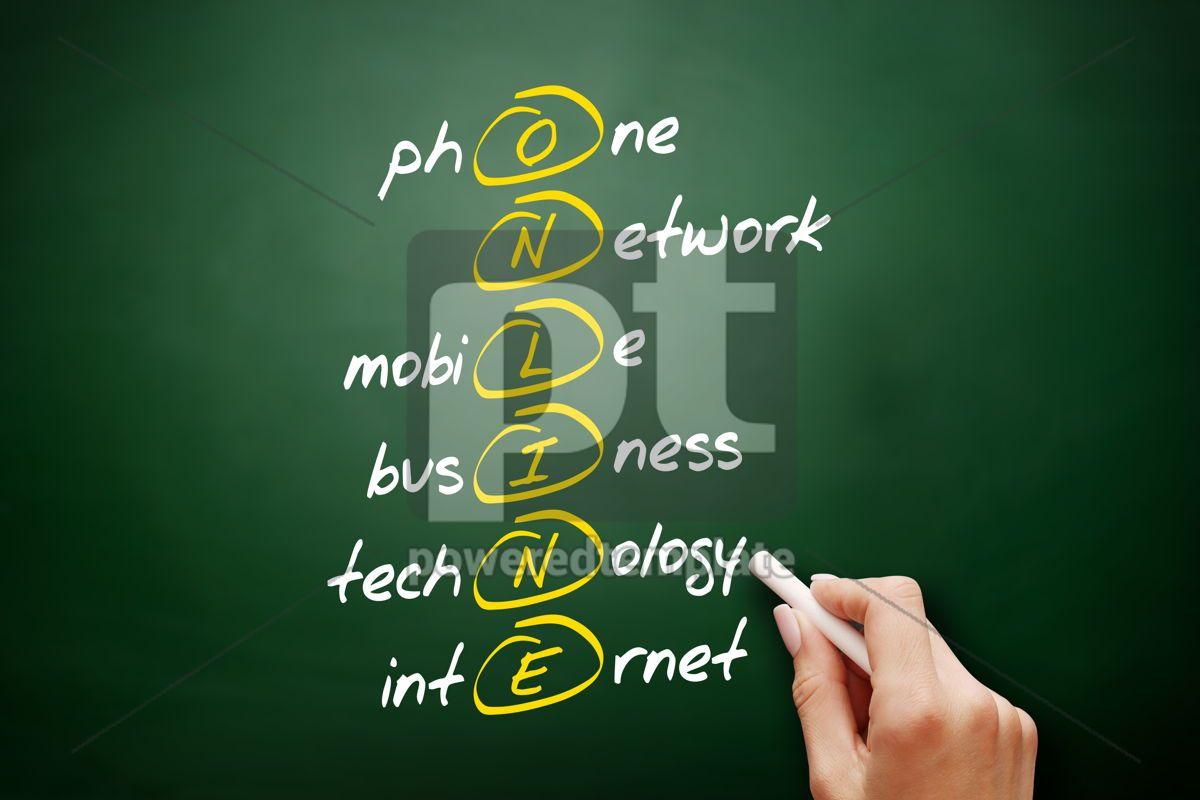 ONLINE acronym business concept background, 09468, Business — PoweredTemplate.com