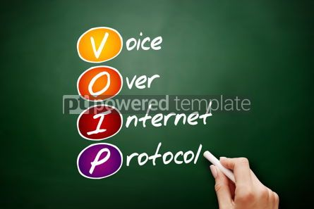 Education: VOIP - Voice over Internet Protocol acronym #09497