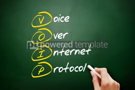 Education: VOIP - Voice over Internet Protocol acronym #09498
