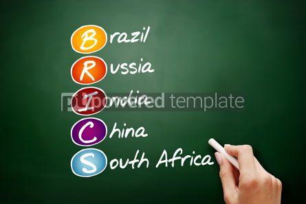 Business: BRICS acronym business concept background #09531