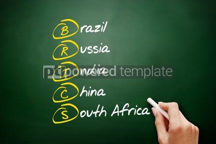 Business: BRICS acronym business concept background #09532
