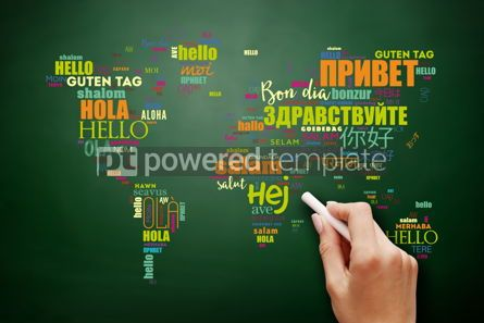 Business: Hello in different languages word cloud #09541