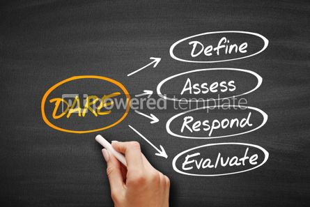 Business: DARE - Define Assess Respond Evaluate acronym #09545