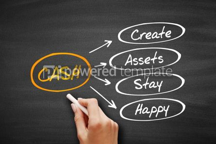Business: CASH - Create Assets Stay Happy acronym #09546