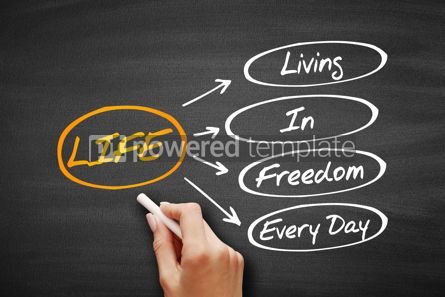 Education: LIFE - Living In Freedom Every Day acronym #09578