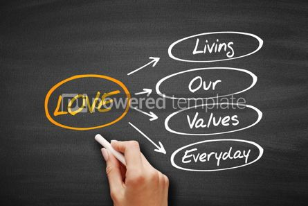Business: LOVE - Living Our Values Everyday acronym #09582