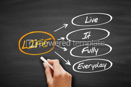 Business: LIFE - Live It Fully Everyday acronym #09584