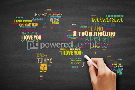 "Business: Love words ""I love you""  word cloud concept #09592"