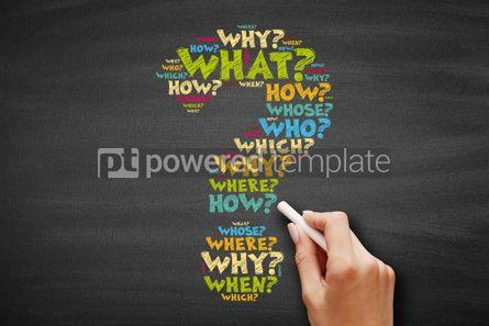 Business: Question mark word cloud concept #09594