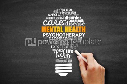 Health: Mental health bulb word cloud #09599