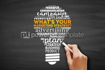 Business: What's Your Marketing Strategy light bulb #09602