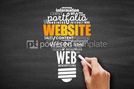 Business: WEBSITE light bulb word cloud #09604