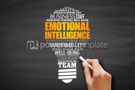 Business: Emotional intelligence light bulb word cloud #09607