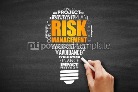Business: Risk Management light bulb word cloud #09611