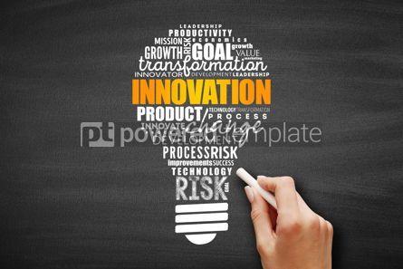 Business: INNOVATION light bulb word cloud #09612