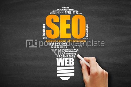 Business: SEO (Search Engine Optimization) light bulb #09623