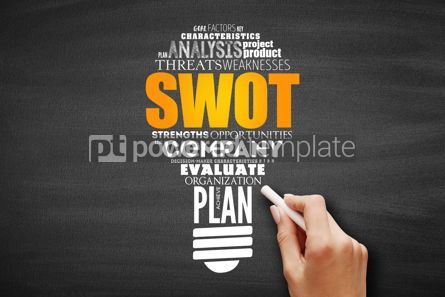 Business: SWOT analysis (or SWOT matrix) concept #09629