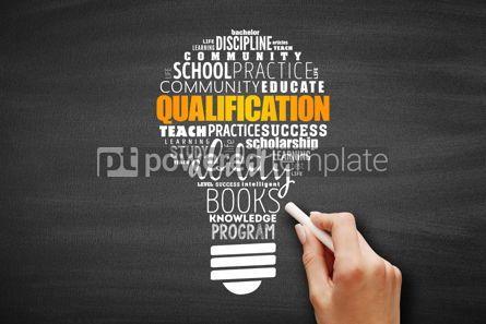 Business: Qualification light bulb word cloud #09637