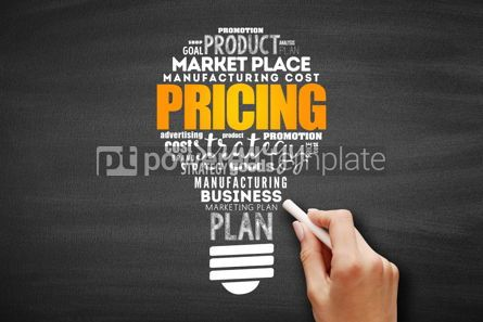 Business: Pricing light bulb word cloud #09650