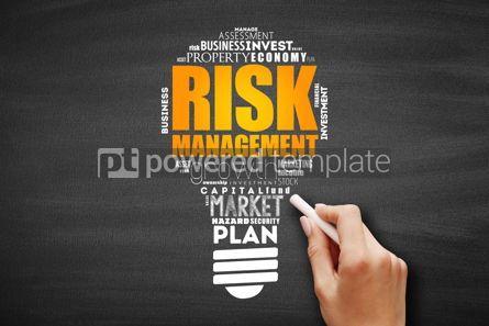 Business: Risk Management light bulb word cloud collage #09655