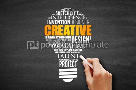 Business: CREATIVE light bulb word cloud #09663