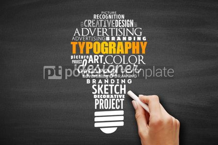 Business: TYPOGRAPHY light bulb word cloud collage #09668