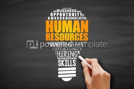 Business: HR - Human Resources light bulb word cloud #09672