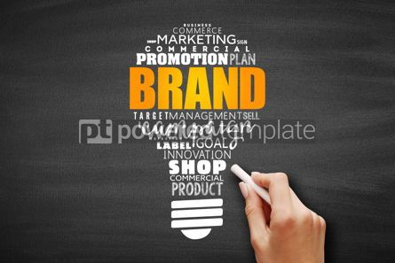 Business: Brand word light bulb cloud collage #09675