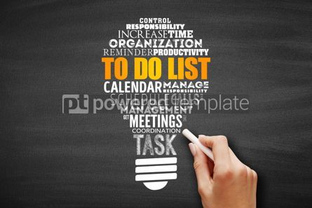 Business: To Do List light bulb word cloud collage #09683