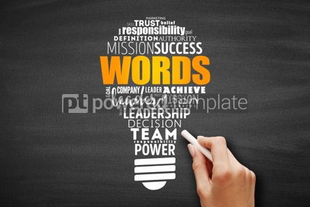 Business: WORDS light bulb word cloud collage #09689