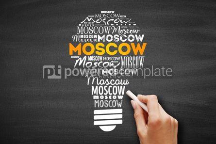 Business: Moscow light bulb word cloud #09697